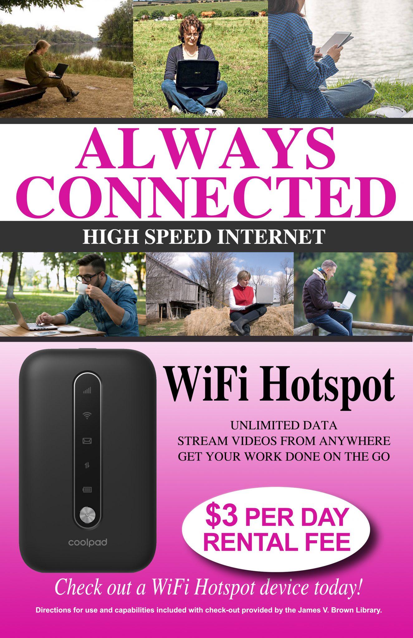 Mobile Internet Hotspots | James V Brown Library