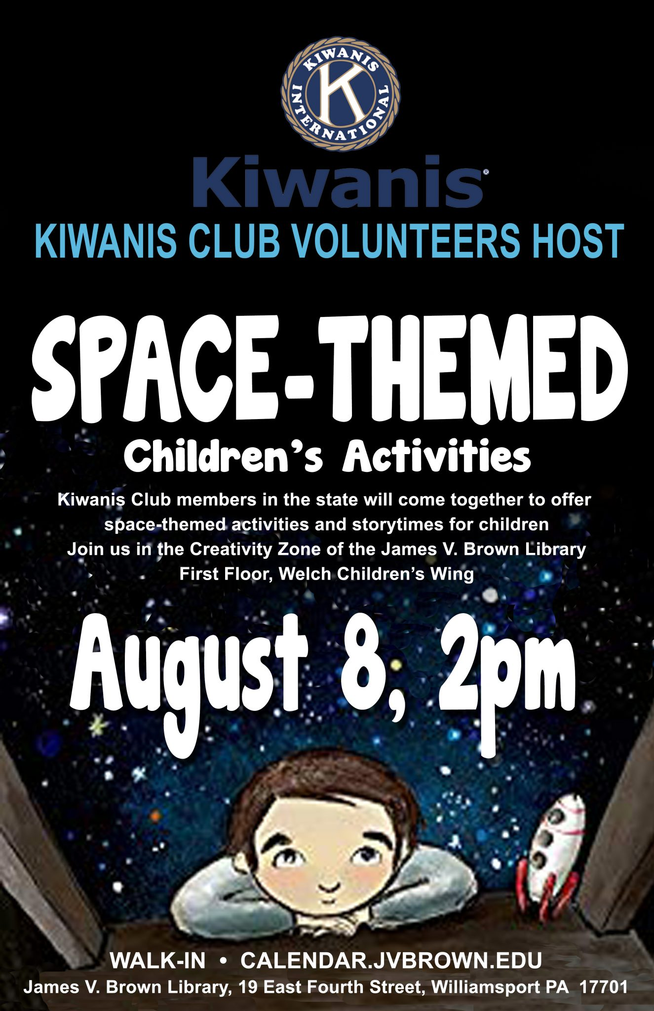Library to host Kiwanis Club volunteers for space-themed fun